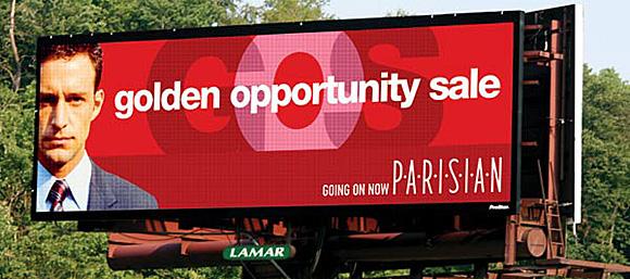 Первый уличный светодиодный видеоэкран был установлен в 2001 году компанией Lamar Digital в Батон-Руж, Луизиана, США