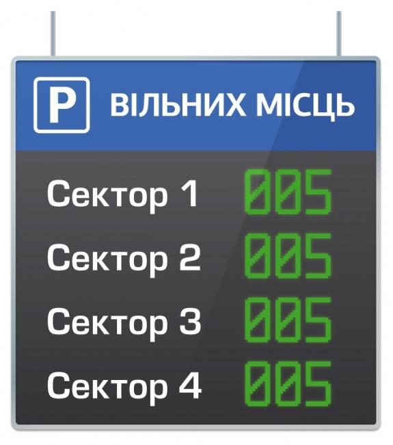 Межуровневое светодиодное табло парковки