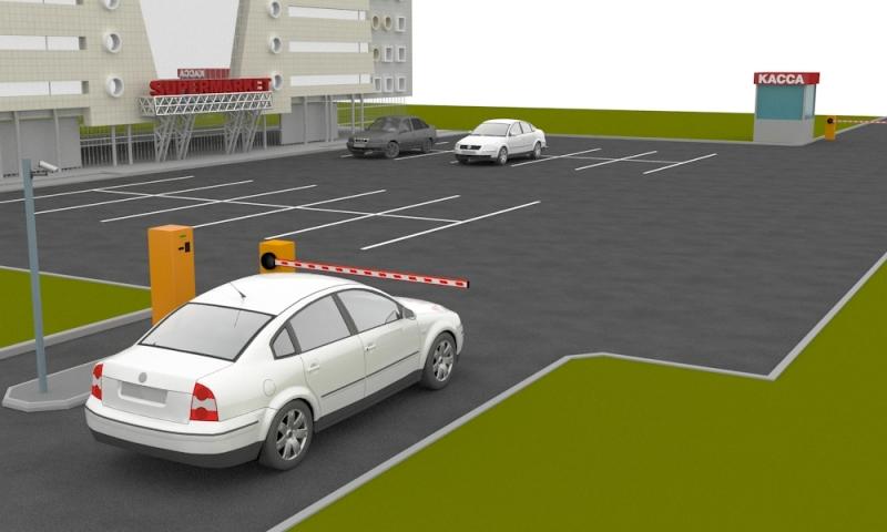 Полуавтоматическая парковка для ТРЦ