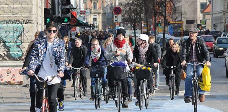 Половина жителей страны пользуются велосипедами ежедневно
