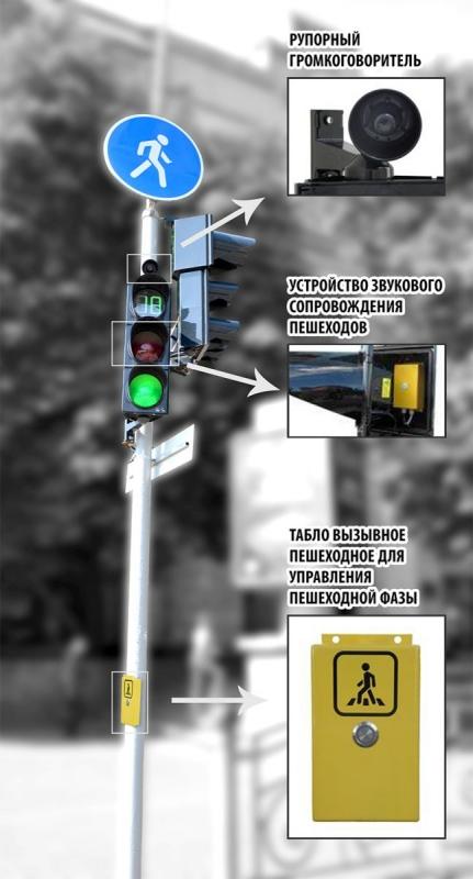 пристрій звукового супроводу пішоходів