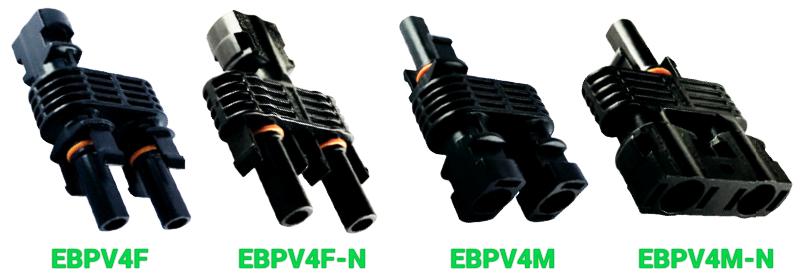Разветвительные коннекторы Elmex EBPV4M, EBPV4F, EBPV4M-N и EBPV4F-N