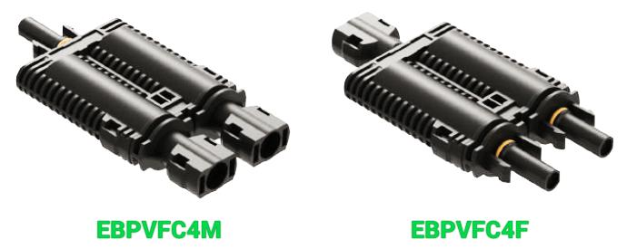 Разветвительные коннекторы Elmex с предохранителем EBPVFC4M и EBPVFC4F