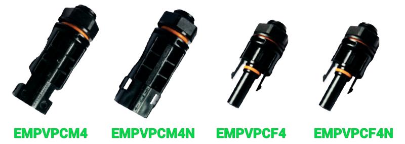Проходные коннекторы Elmex EMPVPCM4, EMPVPCF4, EMPVPCM4N и EMPVPCF4N