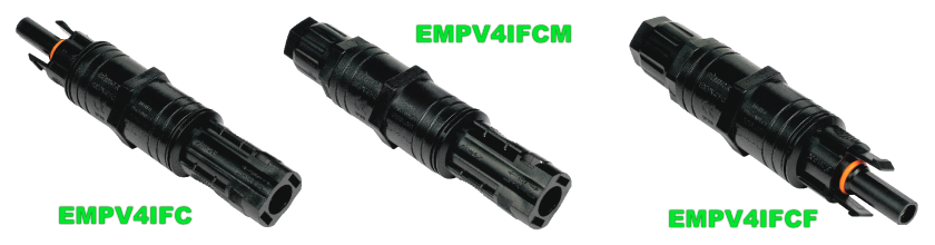 Стринговые коннекторы Elmex с предохранителем EMPV4FC, EMPV4FCM и EMPV4FCF