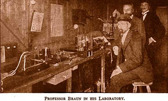 Карл Фердинанд Браун открыл принцип действия кристаллических (твердотельных) диодов